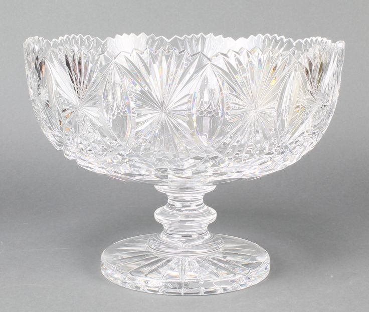"Lot 85, A Waterford Crystal pedestal fruit bowl 11"" est £80-120"