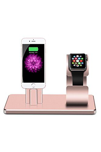 Apple Watch Stand iPhone Docking Station, 2-in-1 Multi-Charging Station Hub for Apple Watch Series and iPhone Rose Gold #Apple #Watch #Stand #iPhone #Docking #Station, #Multi #Charging #Station #Series #Rose #Gold