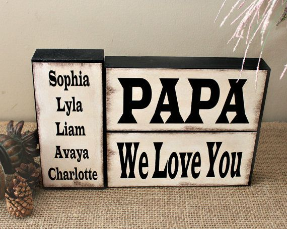 Fathers Day Present - Gift Idea for Grandpa with Grandkids Name - Gifts for Nonno - Personalized Present for Papa - Gifts for Grandfather