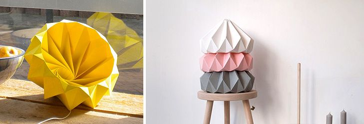 Chestnut Origami Lamp from Studio Snowpuppe