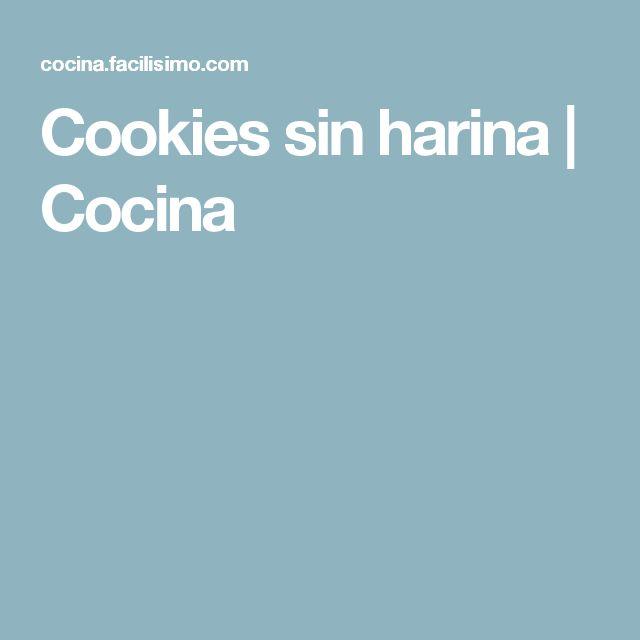 Cookies sin harina | Cocina