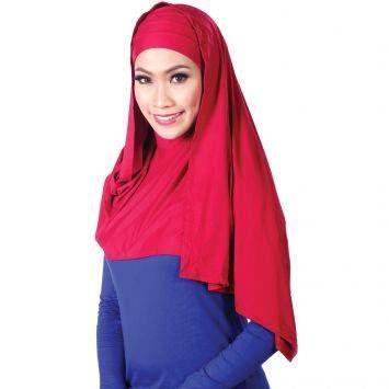 El Hakim Pasmina Set Rhonna - Merah