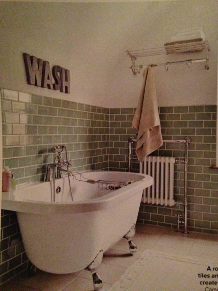 Green metro tiles bathroom pinterest metro tiles for Metro tiles bathroom ideas