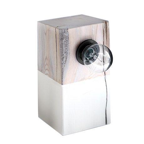 Modern Lamp - White/Driftwood - alt_image_one