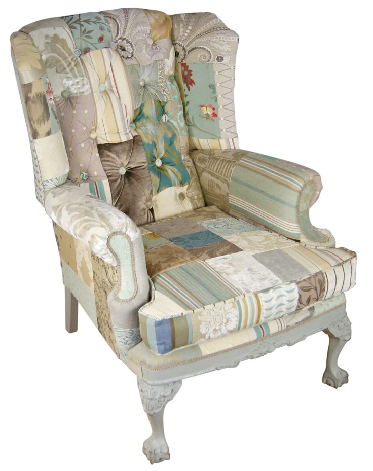 Latest chair just fiinished Shades of Provence, silver and cream in a subtle mix to enhance this beautifully detailed, wing back with distressed ball & Claw feet in chalk grey.