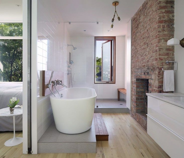 The winner of the Remodelista Considered Design Awards Best Professionally  Designed Bath Space is Etelamaki Architecture of Brooklyn, New York.