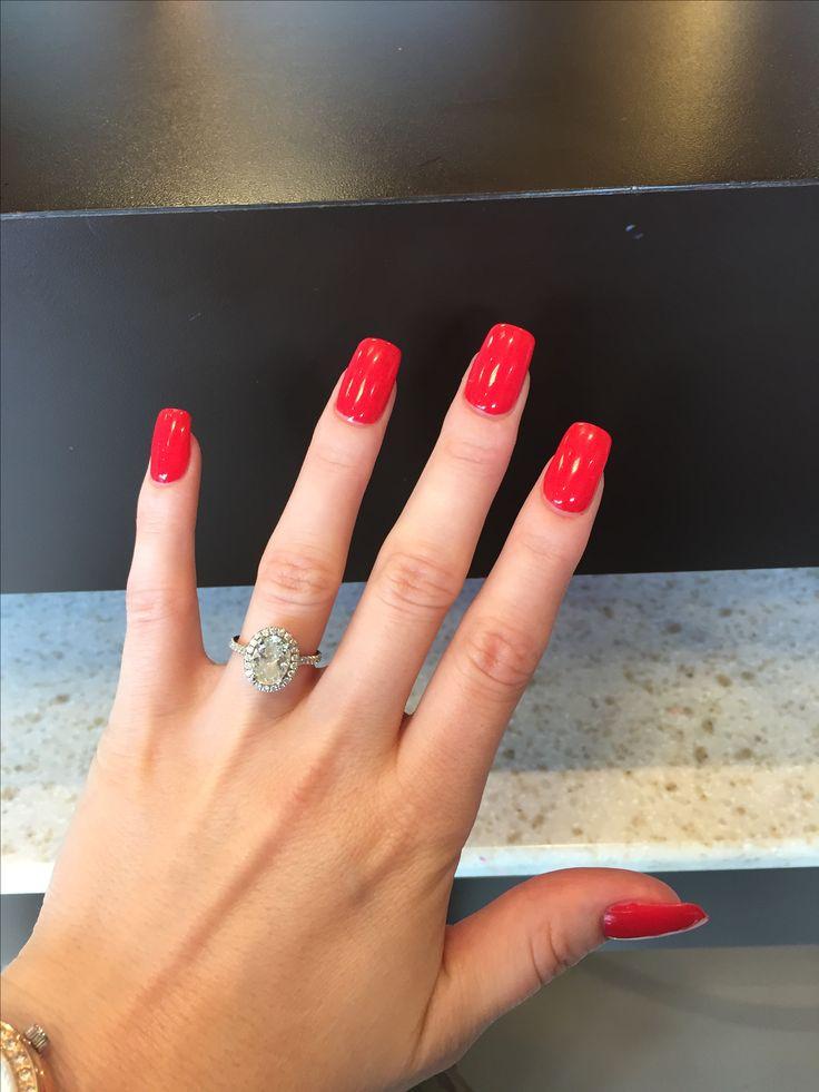 Opi Cajun Shrimp In 2019 Red Gel Nails Opi Cajun Shrimp Pink Gel Nails