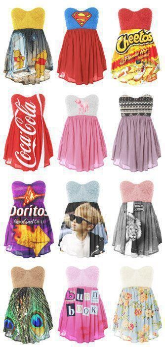 awesome cute dresses, CLASSY WAYS TO DO HALLOWEEN! Don't know how these are made though...
