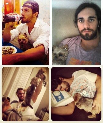 tyler black and his dog seth rollins pinterest dogs