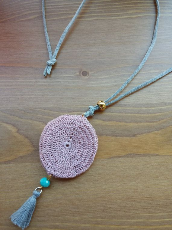 handmade necklace knitted hand by toocharmy on Etsy