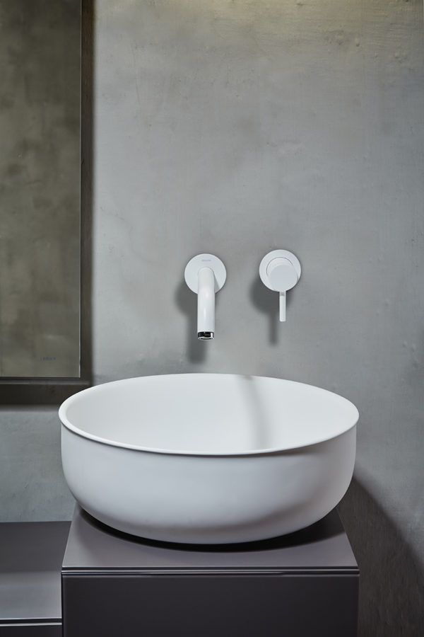 PRIME - InbaniThe inspiration for the pieces comes from antique metal bathtubs and sinks, with the typical rolled edge. An contemporary design interpretation in a contemporary material, but with the soft poetic appeal from the antique tubs. The soft shape of all the items is inspired by the pressure of water and resembles the way a water filled balloon takes shape after the water pressure. This natural and recognizable shape along with the soft rolled edges makes this design extraordinarily…
