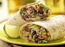 Rice and Beef Burritos