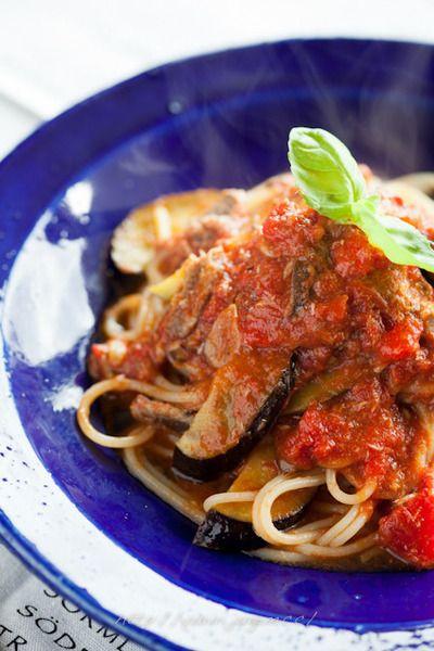 オイルサーディンと茄子、トマトのパスタ by ゆりりさん   レシピ ...