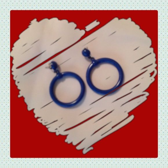 Pierced Royal Blue Earrings Great with that cool Summer outfit Jewelry Earrings