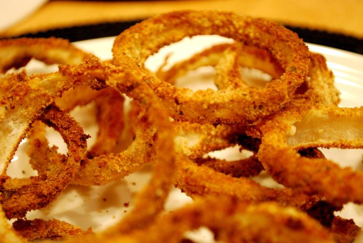 A Girl's Guilty Pleasures: Crispy Oven Baked Onion Rings