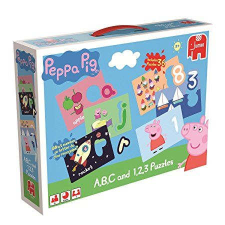Peppa Pig ABC and 123 Educational Jigsaw Puzzles Box Set