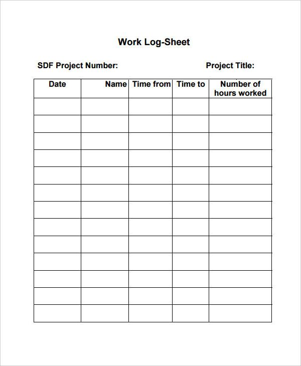 Daily Work Log Templates Templates Words Excel