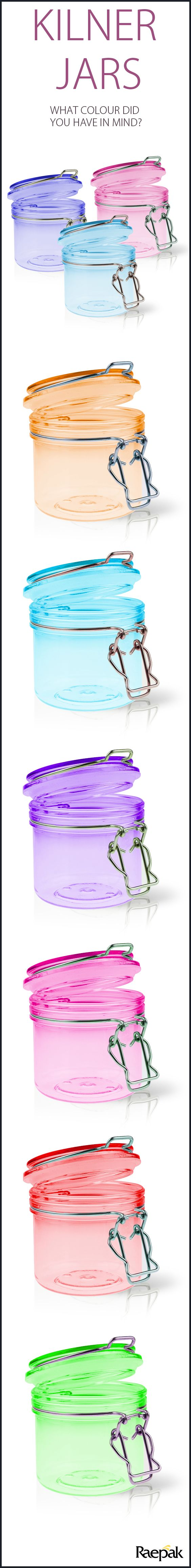 Discover Kilner jars like never before. #kilner #colour #kitchen #storage #PlasticPackaging #jars