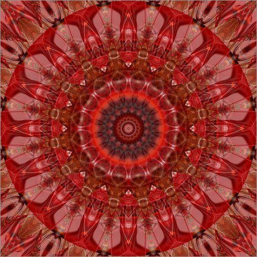 Mandala esprit Poster von Christine Bässler