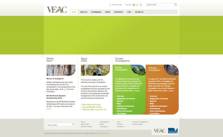 http://www.veac.vic.gov.au/ another good use of 'Earthy' colours. It has a nice structure to it as well.