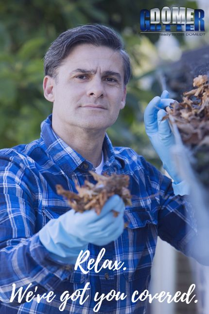 You're coming back from work, and the last thing you want to do is clean out the leaves that are clogging your gutter! A Gutter Guard from GutterDome will keep your gutters free of debris and sludge. #YouGotDOMED