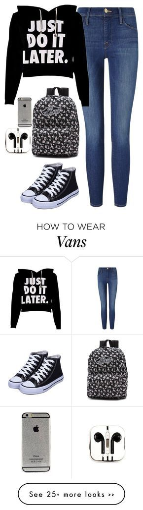 """Untitled #418"" by fashionrandoms on Polyvore featuring Frame Denim, Vans and PhunkeeTree"