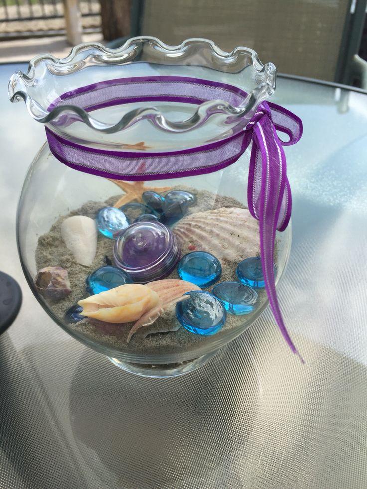 Fish bowl centerpiece dollar tree bowl and shells