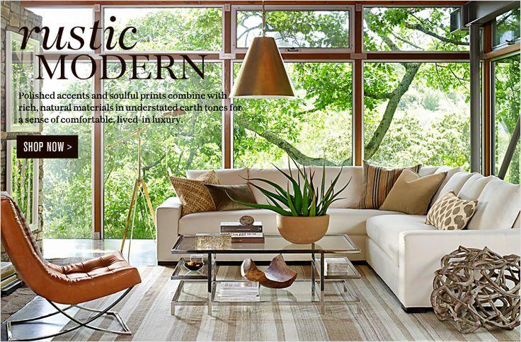 Best 25+ Rustic Modern Living Room Ideas On Pinterest