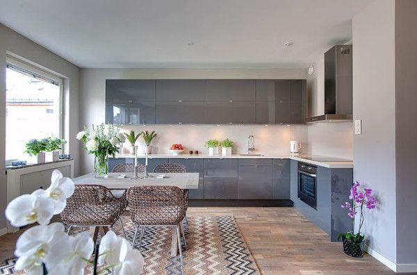 cozinha armarios vidro cinza