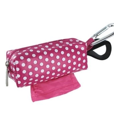 Pink & White Polka Dot Dog Walk Bag - $7.00