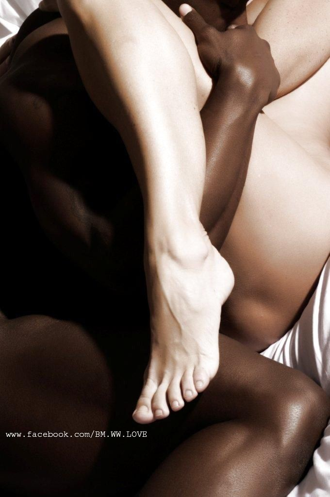 Sexy black women with white men