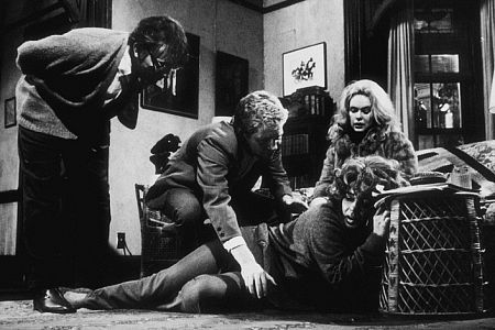 """Who's Afraid of Virginia Woolf"" Elizabeth Taylor, Sandy Dennis, George Segal and Richard Burton 1966 Warner Bros."