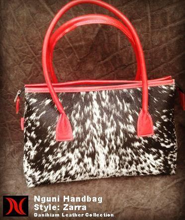 Nguni Handbag Danihiam Leather Collection www.dlcleather.co.za info@dlcleather.co.za #danihiam