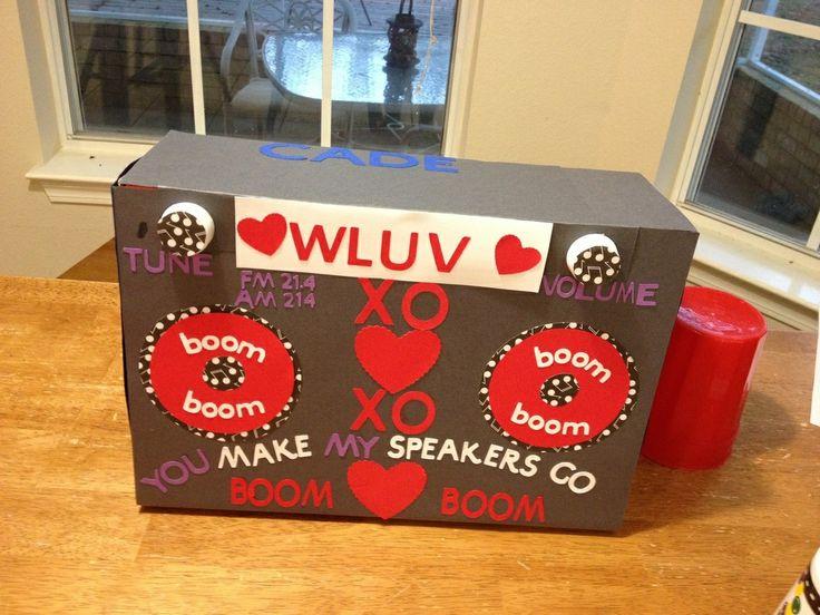 Valentine Boom Box I DID IT Pinterest