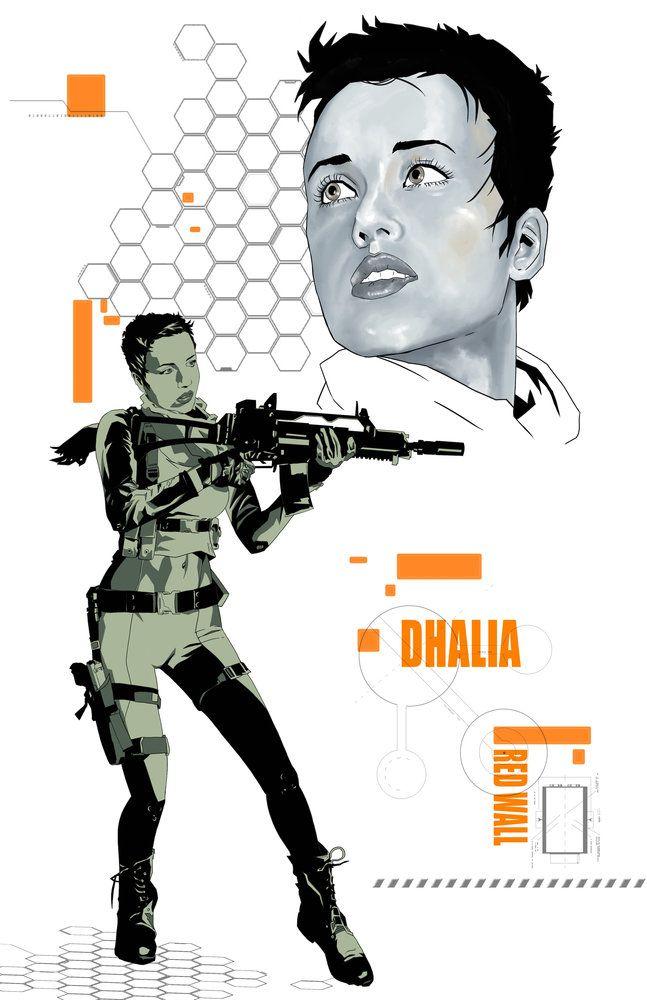 Dhalia concept - RED WALL por M-HACKER-A - Personajes   Dibujando.net