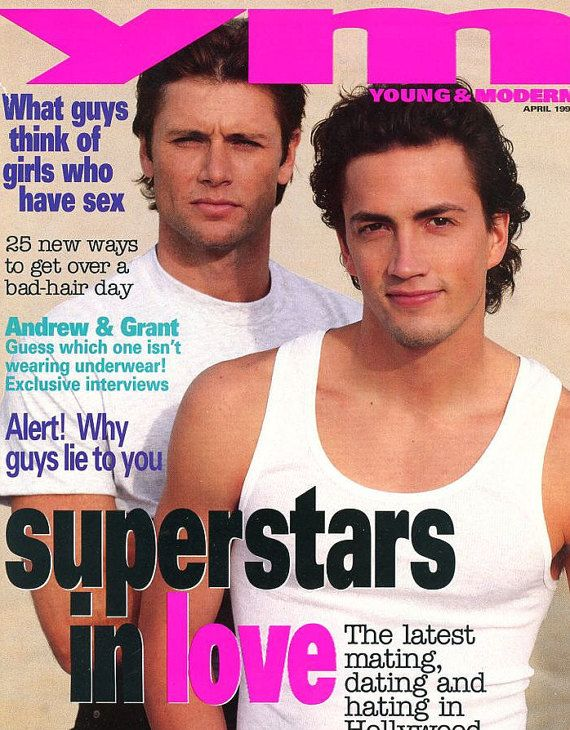 Magazine   YM - Young & Modern 1993  Young Lady/Teen Magazine   Andrew Shue and Grant Show on Cover
