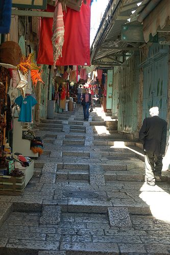 Old City Market - David Street - Jerusalem Israel - Find the latest news about Israel, the Syria civil war and the Middle East at http://www.israelnewsreport.net/old-city-market-david-street-jerusalem-israel/.