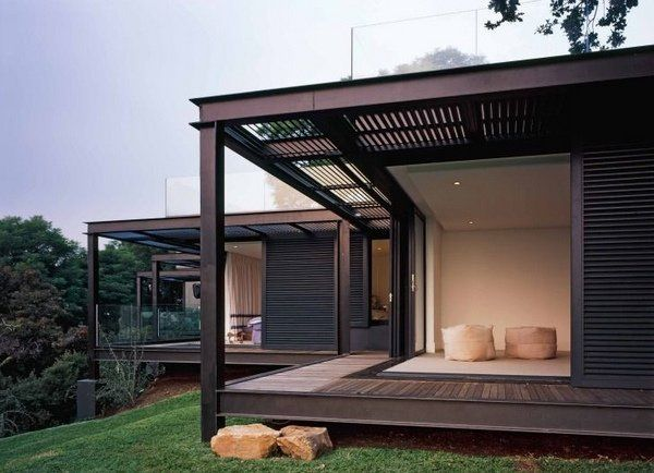 25 best ideas about steel frame house on pinterest steel frame homes modern brick house and - Luxurious interior design with modern glass and modular metallic theme ...