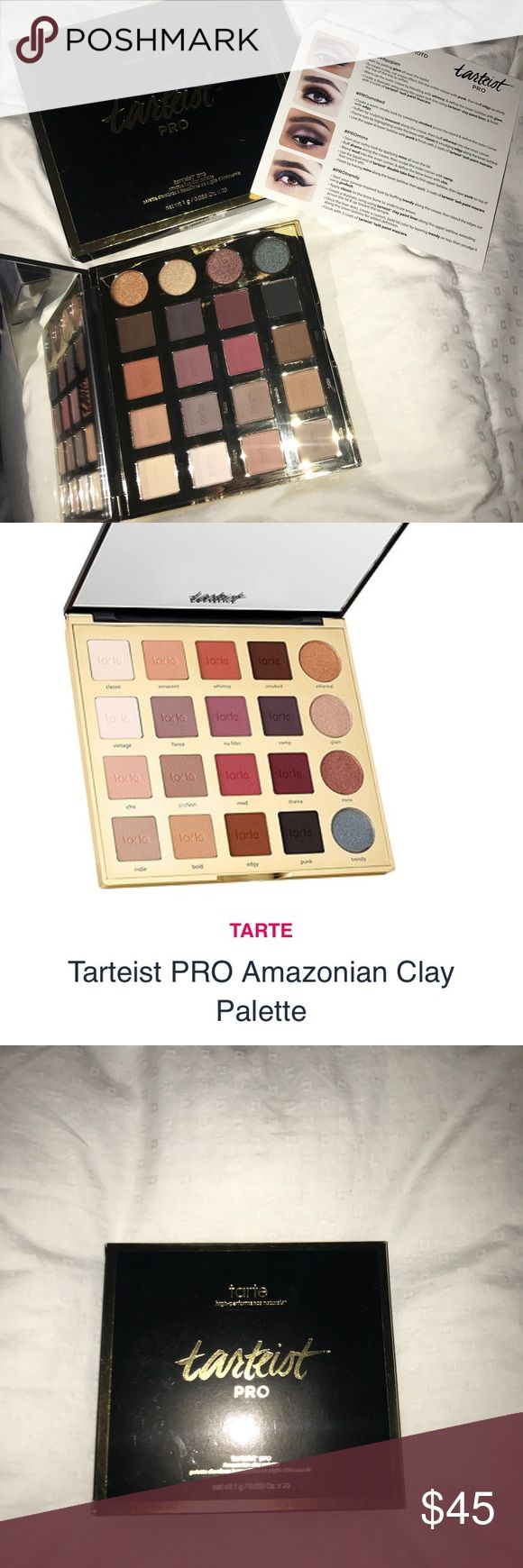 Tarts Tarteist Pro Amazonian Clay Palette NIB This listing offers a brand new in box Tarte Palette       ° Type: Tarteist Pro Amazonian Clay      ° Shades          Classic (cream)          Ethereal (bronze)          Vintage (ivory)          Fierce (cool plum)          No Filter (purple mauve)          Vamp (deep plum) + many more!!      ° MSRP: $53    Happy Buying ✌🏽 tarte Makeup Eyeshadow