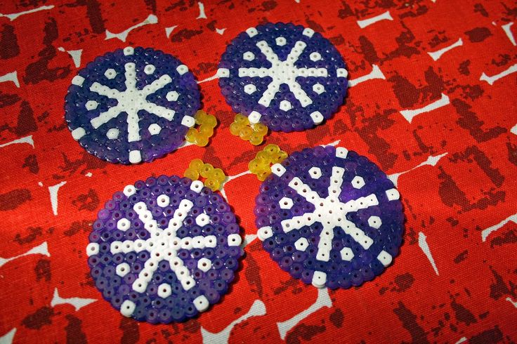 Hama bead ornaments for christmas
