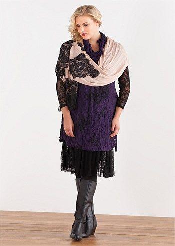 #TS Lace Print Tunic #plussize #curvy