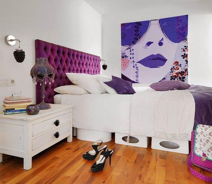 Die besten 25+ Lila kopfteil Ideen auf Pinterest Diy getuftet - schlafzimmer ideen pink