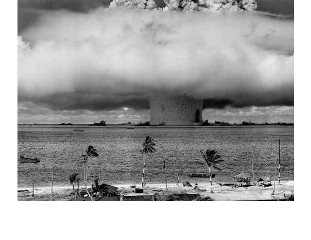 the u s  tests nuclear detonation in the bikini atoll
