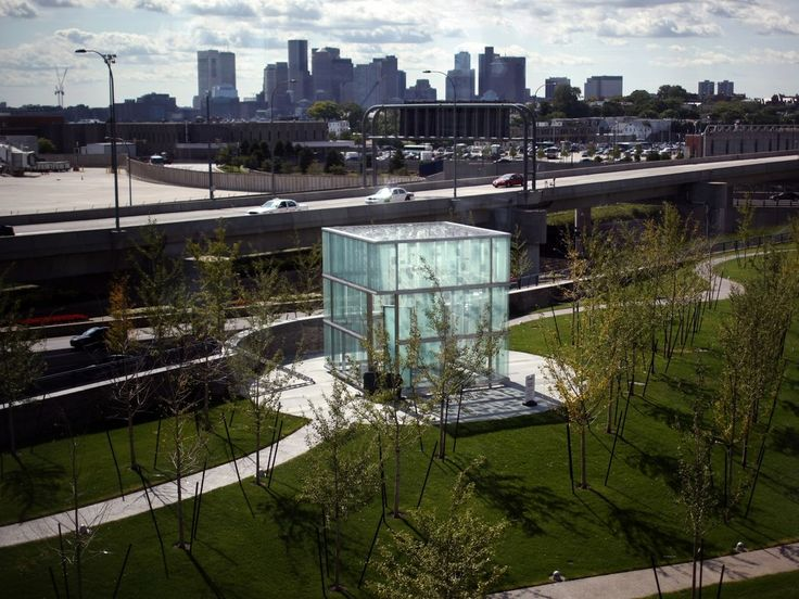 Dedicated in 2008, the Boston Logan International Airport 9/11 Memorial is set on 2.5 acres and was designed by local firm Moskow Linn Architects. The site features a large glass box that contains panels inscribed with the names of the passengers and crew of United Airlines Flight 175 and American Airlines Flight 11, which both took off from the airport. To view the full gallery on Architectural Digest, click here.