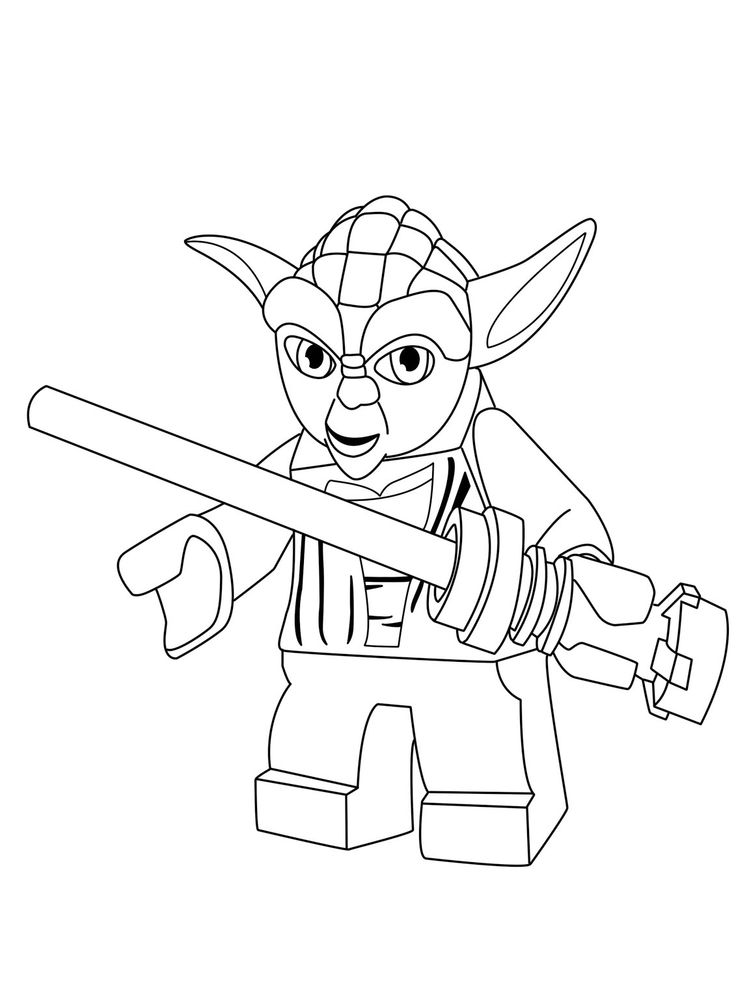 yoda coloring pages for kids | Yoda Thinks Coloring Page | Color pages | Pinterest