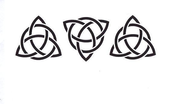 Celtic Trinity Knot Stencil Celtic Triangle Mylar by TheBeadSource