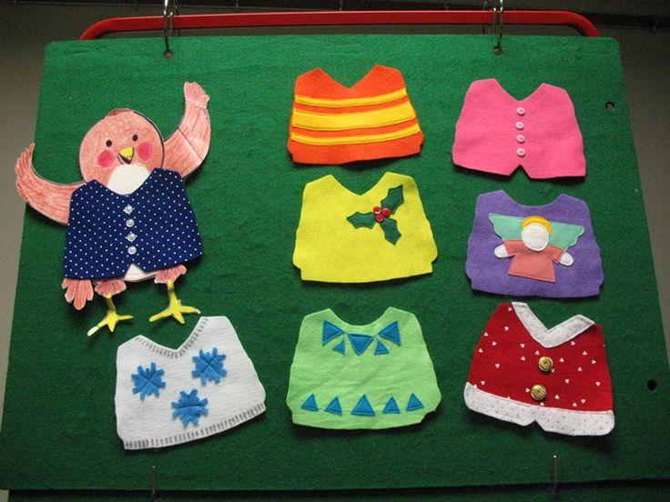 Flannel board of Little Robin's Christmas by Jan Fearnley - Flannel board by Donna Batson