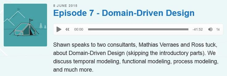 Episode7 of the dev discussions podcast with Mathias Verraes and Ross Tuck about Domain-Driven Design (skipping the introductory parts). They discuss temporal modeling, functional modeling, process modeling, and much more. #podcast #ddd