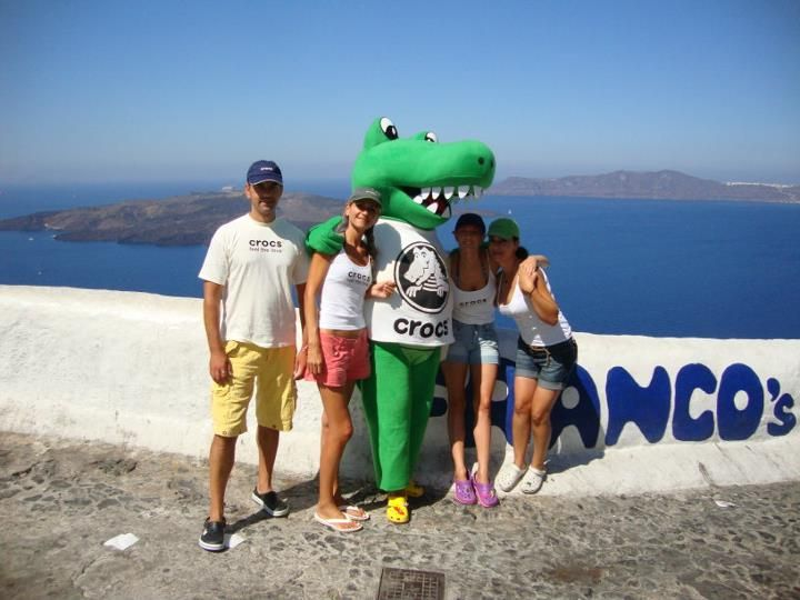 Crocky & friends in Santorini