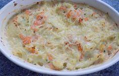 Régime Dukan (recette minceur) : Gratin de chou-fleur/saumon fumé #dukan http://www.dukanaute.com/recette-gratin-de-chou-fleur-saumon-fume-13084.html